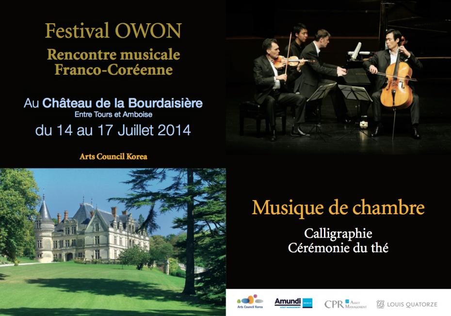 Festival musique de chambre owon 14 juillet